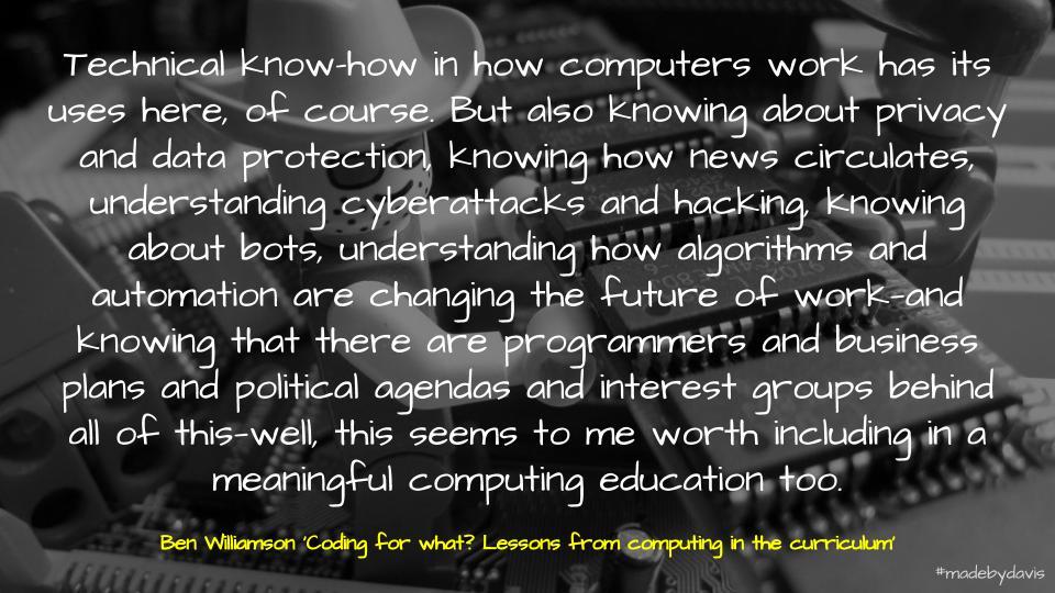 Ben Williamson on Digital Technologies