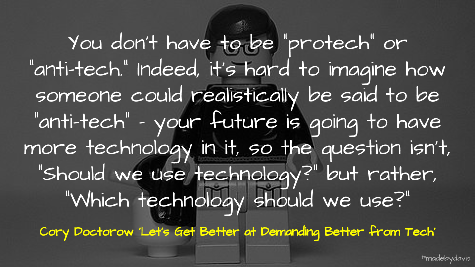 Doctorow on demanding better technology