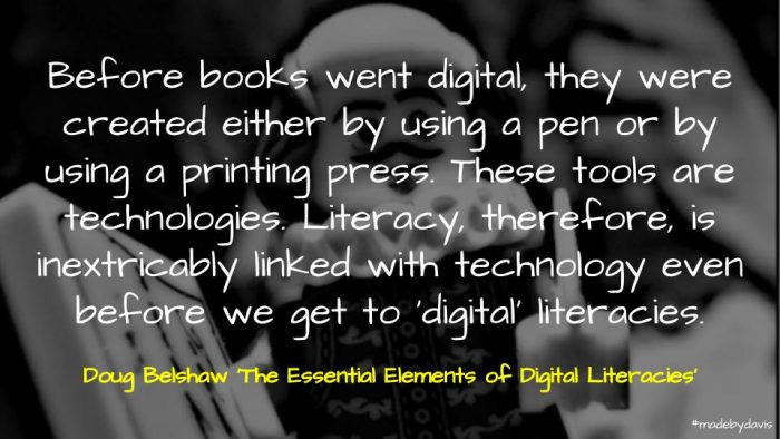 Quote from Doug Belshaw's book on digital literacies