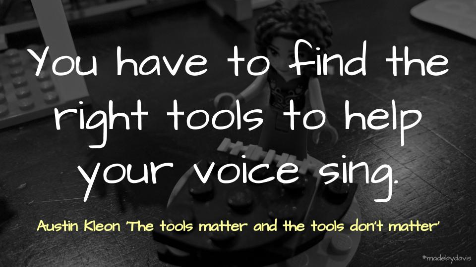 Quote on tools from Austin Kleon