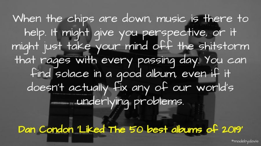 A quote about the power of music from Dan Condon